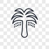 Palm Tree with Date  icon isolated on transparent background, Palm Tree with Date logo design. Palm Tree with Date  icon isolated on transparent background, Palm Stock Photos