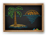 Palm tree drawing Royalty Free Stock Photo