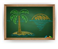 Palm tree drawing Royalty Free Stock Image