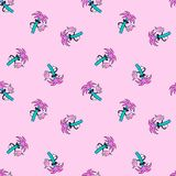 PALM TREE DUDE WITH COCKTAIL SEAMLESS PATTERN PINK royalty free illustration