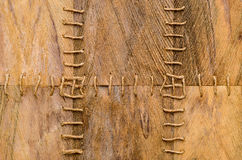 Palm tree fiber bark texture with rope Stock Photos