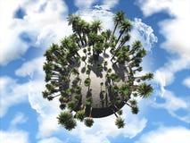 Palm tree globe Stock Photo