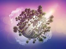 Palm tree globe Royalty Free Stock Photography