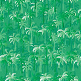 Palm tree green seamless pattern Stock Photos