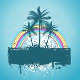Palm tree grunge Stock Image