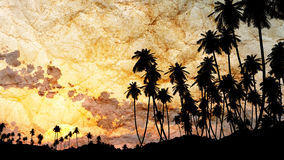 Palm tree grunge paper Stock Photography