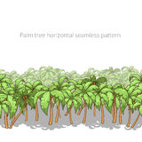 Palm tree horizontal pattern vector illustration Royalty Free Stock Photography
