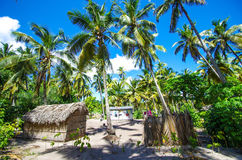 Palm tree houses. In Mozambique, Africa Stock Photos