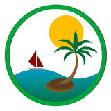 Palm tree icon Royalty Free Stock Photography