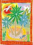 Palm tree illustration Stock Image