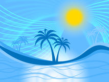 Palm Tree Indicates Tropical Climate And Coastline Royalty Free Stock Image