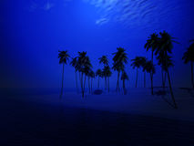 Palm Tree Island 44. An image of a tropical island Royalty Free Stock Photography