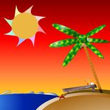 Palm-tree-island Stock Photo