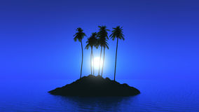 Palm tree island Royalty Free Stock Images