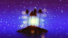 Palm tree island Stock Image
