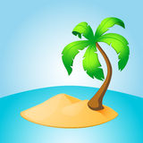 Palm tree island Royalty Free Stock Photo