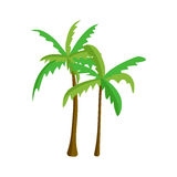 Palm tree isolated vector. Royalty Free Stock Photos