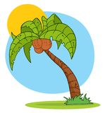 Palm tree logo Stock Image