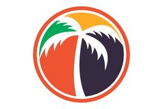 Palm tree logo dsign. Abstract vector dsign concept Stock Photography
