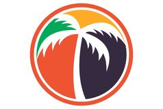 Palm tree logo. Dsign vector concept Royalty Free Stock Image