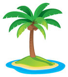 Palm Tree. A palm tree logo icon drawing for a tropical vacation