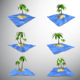 Palm tree on lonely island Royalty Free Stock Photos
