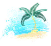 Palm tree painted with paint Stock Images