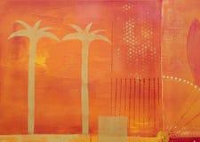 Palm tree painting Royalty Free Stock Photo