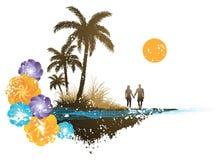 Palm Tree Paradise Stock Photo