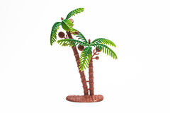 Palm tree plastic toy Stock Images