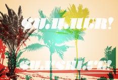 Palm tree print Royalty Free Stock Photo