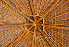Palm tree roof Stock Photos