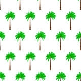 Palm tree seamless pattern Stock Photography