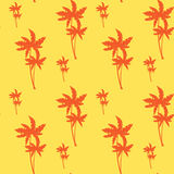Palm Tree Seamless Pattern Tropical Ornament Background Style. Vector Illustration Royalty Free Stock Images