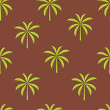 Palm tree seamless pattern vector illustration. This is file of EPS10 format Royalty Free Stock Images