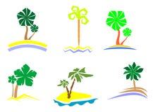 Palm tree set Royalty Free Stock Photos