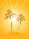 Palm tree silhouette background Royalty Free Stock Photo