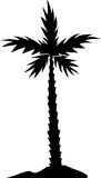 Palm tree silhouette. Summer  background. Seaside View Poster. Vector beach resort wallpaper illustration Royalty Free Stock Image