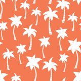 Palm tree silhouettes seamless vector pattern royalty free illustration