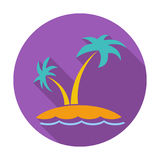 Palm tree. Single flat color icon. Vector illustration vector illustration
