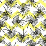 Palm Tree Sketch Pattern A Stock Photo