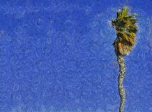 Palm Tree & Sky Painting Royalty Free Stock Photos