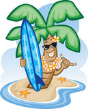Palm Tree and Surfboard Stock Photos