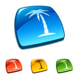 Palm tree. Vector icon Royalty Free Stock Photography