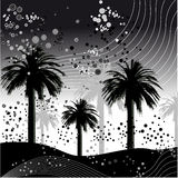 Palm tree vector illustration stock illustration