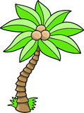 Palm Tree Vector Illustration Royalty Free Stock Images