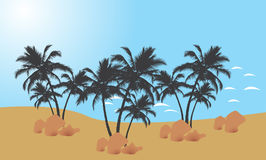 Palm trees. Tropical palm trees  illustration Royalty Free Stock Images
