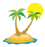 Palm trees. Couple of palm trees illustration Royalty Free Stock Images