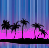 Palm trees - an abstract background Stock Photo