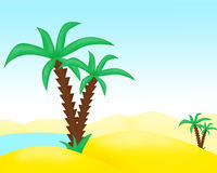 Palm trees in the desert Stock Image